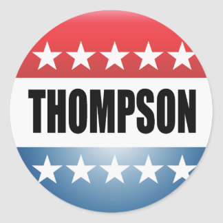 FRED THOMPSON ROUND STICKER
