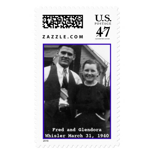 Fred y Glendora Whisler Estampilla