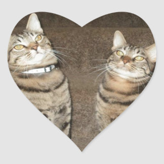 Fred y Nymphy junto Pegatina En Forma De Corazón