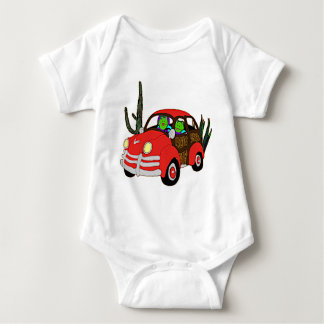 Freda and Freddie Frog Head Out Baby Bodysuit