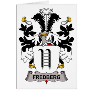 Fredberg Family Crest Greeting Cards