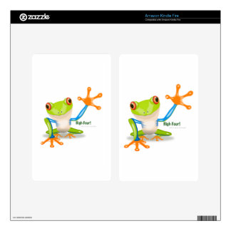 """Freddie Frog """"High Four"""" Skins For Kindle Fire"""