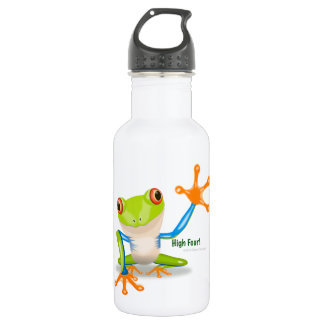 "Freddie Frog ""High Four"" Stainless Steel Water Bottle"