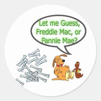 Freddie Mac o Fannie Mae Pegatinas Redondas