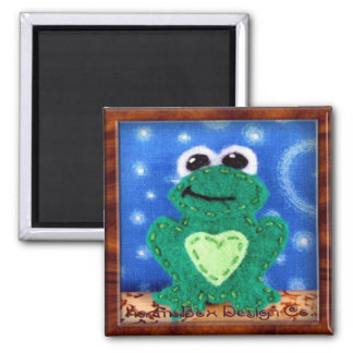 Freddie the Frog 2 Inch Square Magnet
