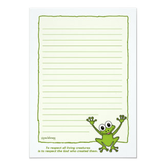 Freddie the Frog (Pathway Pet) Card