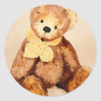 Freddie the Teddy Classic Round Sticker