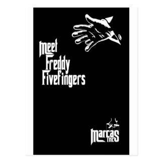 Freddy Fivefingers Postcard