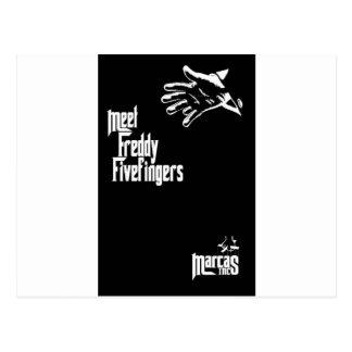 Freddy Fivefingers Post Card