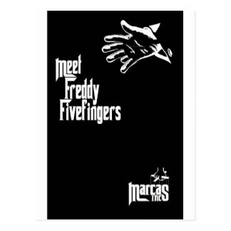 Freddy Fivefingers Wenskaart