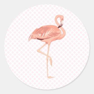 Freddy Flamingo Classic Round Sticker