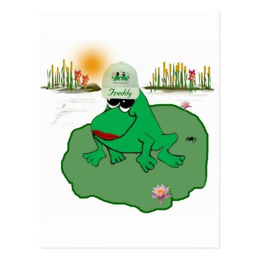 Freddy Frog Postcard
