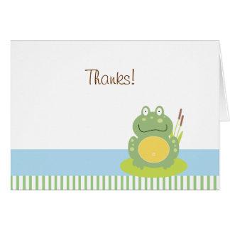 Freddy la rana doblada le agradece tarjeta de nota