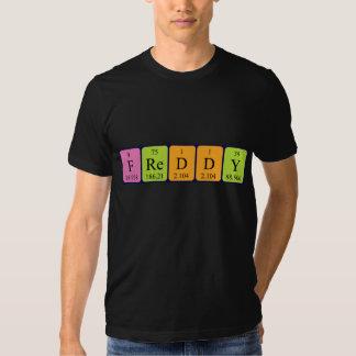 Freddy periodic table name shirt