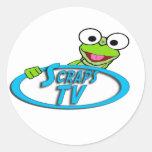 Freddy ScrapsTVlogo Etiquetas Redondas