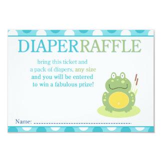 Freddy the Frog Baby Shower Diaper Raffle Card