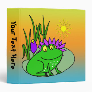 "Freddy the Frog - on a Lilly Pad Kid's 1.5"" Binder"