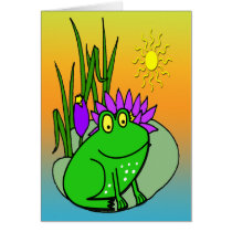 Freddy the Frog - on a Lilly PadCard