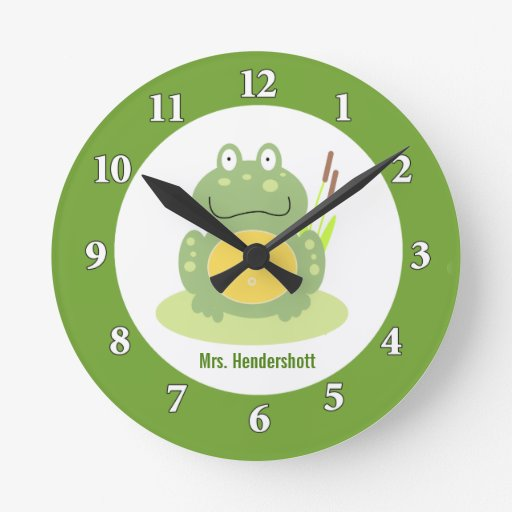 Freddy the Frog Wall Clock - Green
