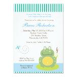 Freddy the Pond Frog Baby Shower 5x7 Invitation