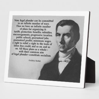 Frederic Bastiat Legal Plunder Display Plaques