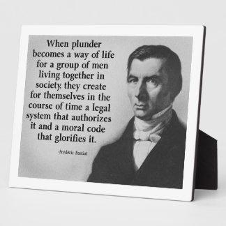 Frederic Bastiat Plunder Quote Photo Plaques