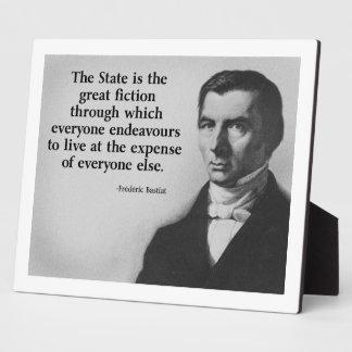 Frederic Bastiat Quote Photo Plaques