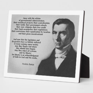 Frederic Bastiat Try Liberty Display Plaques
