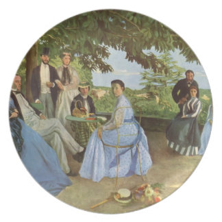 Frederic Bazille- Family Reunion Party Plates