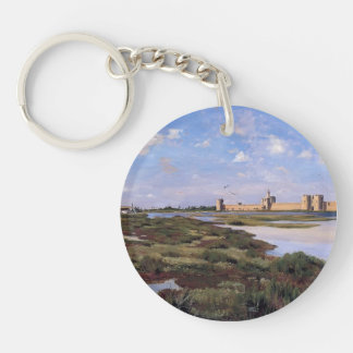 Frederic Bazille- Landscape of Aigues-Mortes Keychains