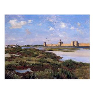 Frederic Bazille- Landscape of Aigues-Mortes Postcard