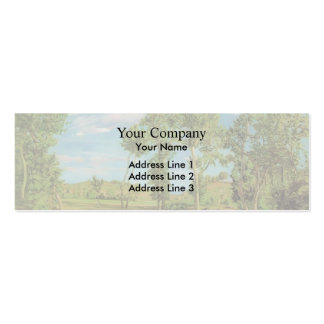 Frederic Bazille- Landscape on the Shore of Lez Business Card Templates