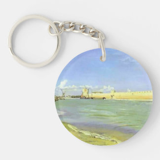 Frederic Bazille- Mall of Aigues-Mortes Key Chain