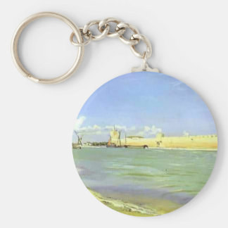 Frederic Bazille- Mall of Aigues-Mortes Keychains
