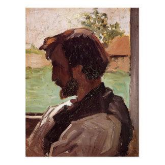 Frederic Bazille- Self-Portrait at Saint-Saveur Postcard