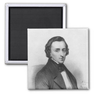 Frederic Chopin, after Ary Scheffer 2 Inch Square Magnet