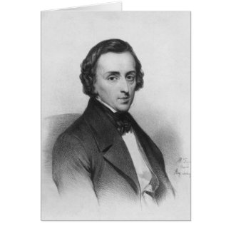 Frederic Chopin, after Ary Scheffer Card