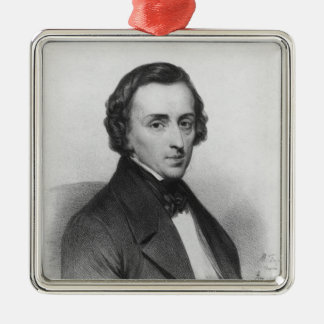 Frederic Chopin, after Ary Scheffer Metal Ornament