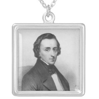 Frederic Chopin, after Ary Scheffer Square Pendant Necklace