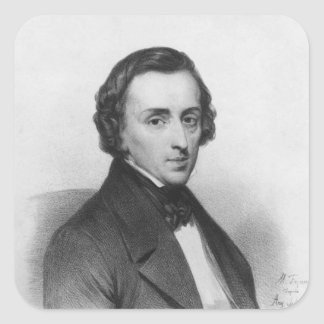 Frederic Chopin, after Ary Scheffer Square Sticker
