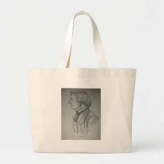 Frederic Chopin Charcoal Portrait Canvas Bag