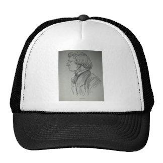 Frederic Chopin Charcoal Portrait Trucker Hat
