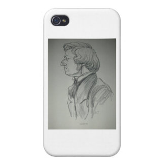 Frederic Chopin Charcoal Portrait iPhone 4/4S Covers