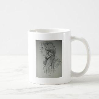 Frederic Chopin Charcoal Portrait Coffee Mug