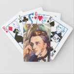 """Frederic Chopin Composer Musician Portrait Famous Bicycle Playing Cards<br><div class=""""desc"""">This image was originally part of a 1947 cover for the Etude music magazine featuring Chopin. Today he plays his way on to products perfect for the home,  office and the journey in between.</div>"""