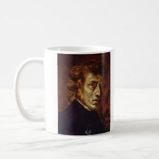 Frederic Chopin Portrait by Eugene Delacroix Coffee Mug