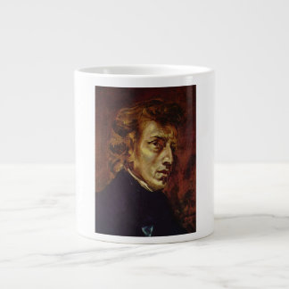 Frederic Chopin Portrait by Eugene Delacroix Giant Coffee Mug