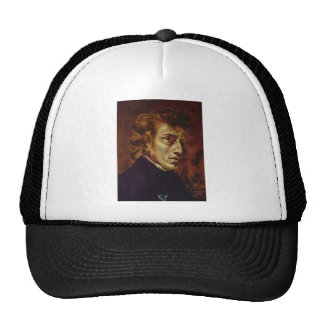 Frederic Chopin Portrait by Eugene Delacroix Trucker Hats