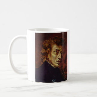 Frederic Chopin Portrait by Eugene Delacroix Mugs