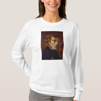 Frederic Chopin Portrait by Eugene Delacroix T-Shirt